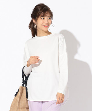 any FAM 【定番人気】プレミアムベーシック ロングTシャツ オフホワイト