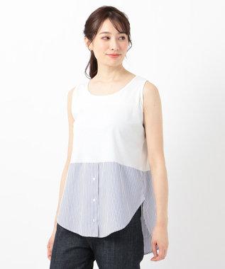 any FAM シャツテール タンクトップ ブルー系1