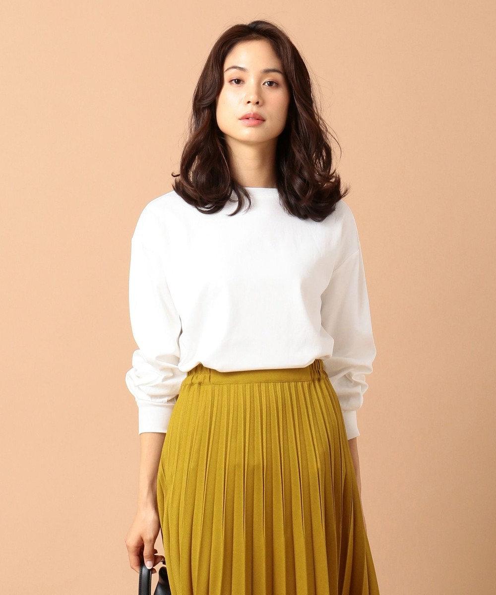 any FAM L 【毛玉になりにくい】【洗える】プレミアムベーシック ロングTシャツ ホワイト系