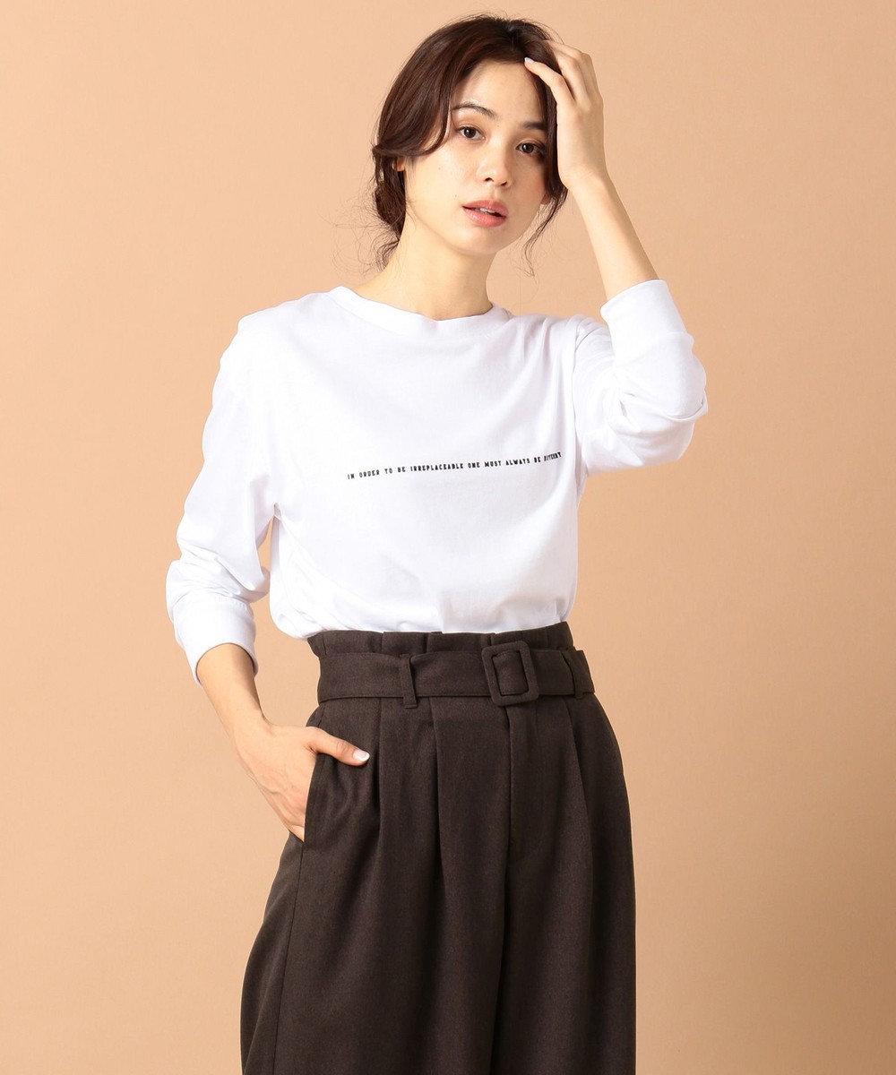 any FAM L 【洗える】ロゴ カットソー ホワイト系
