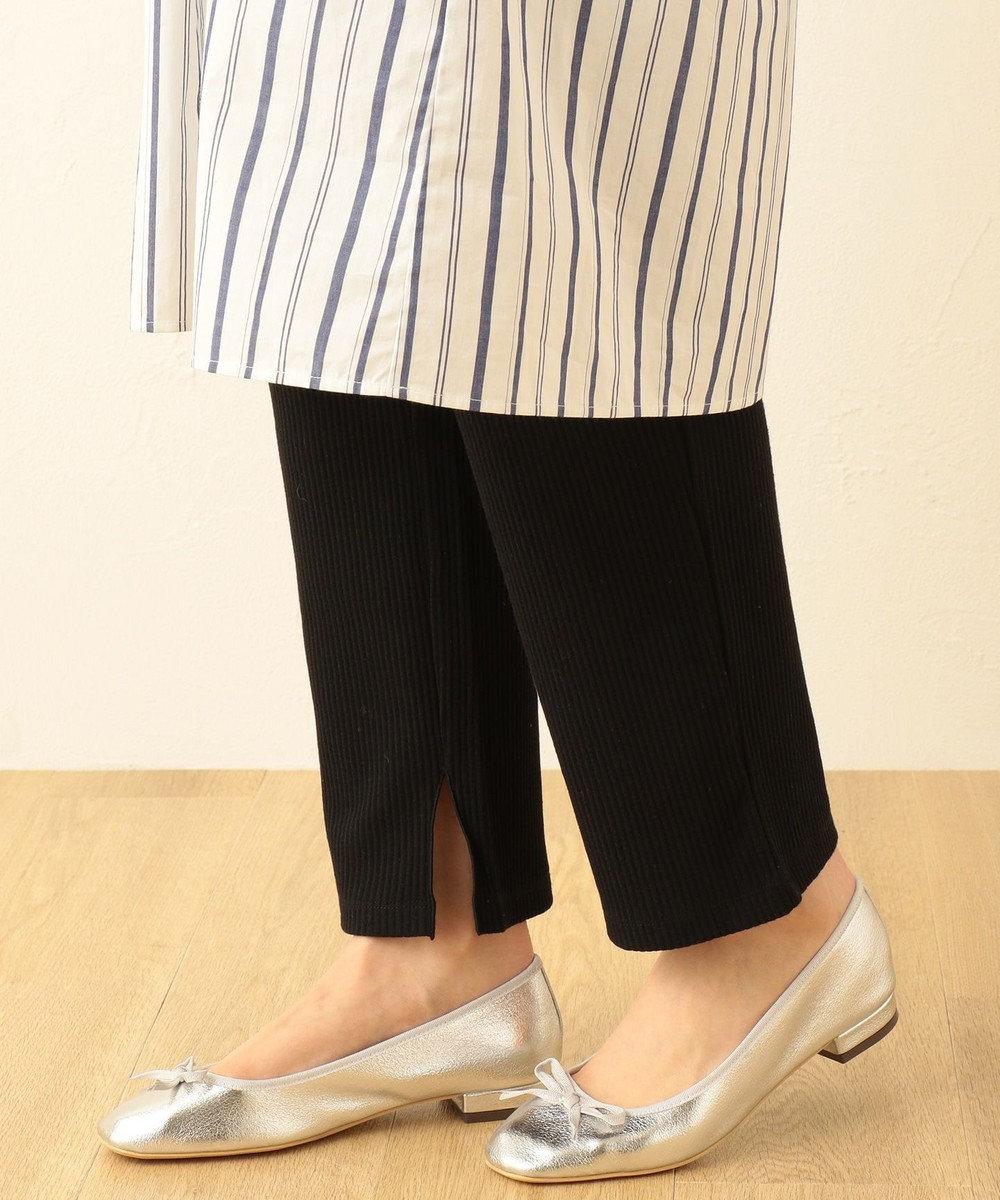 any FAM 【スリット入り】ワイド レギンスパンツ ブラック系