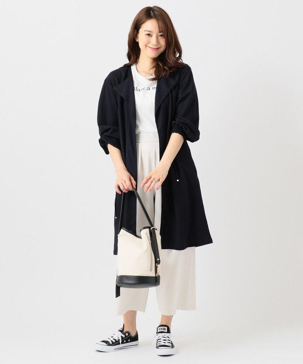 any FAM L 【洗える】ドロストピケ カーディガン ネイビー系