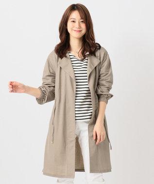 any FAM L 【洗える】ドロストピケ カーディガン ベージュ系