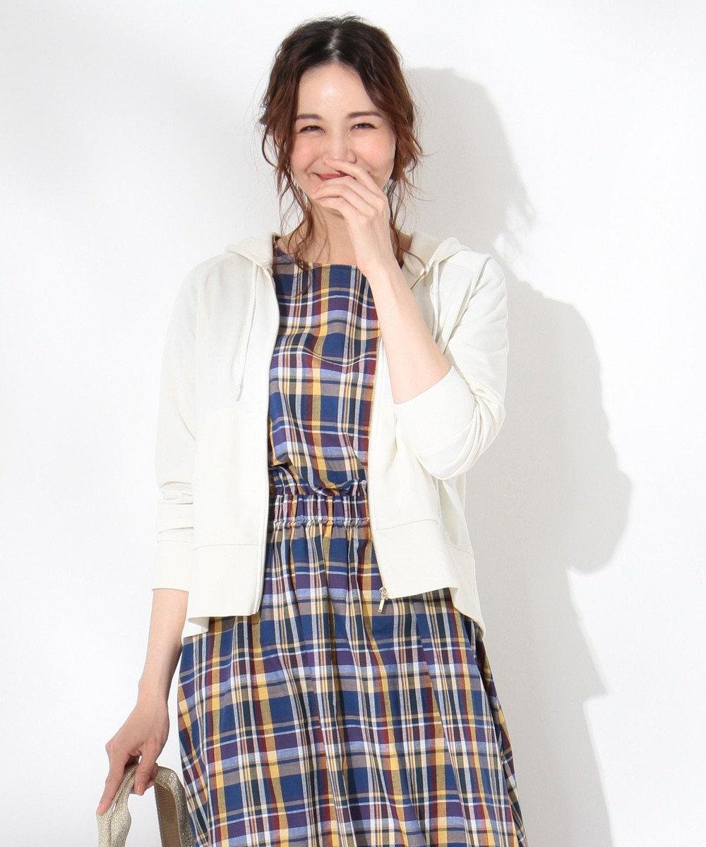 any FAM 【UVケア・洗える】ミニ裏毛 パーカー ホワイト系
