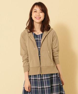 any FAM L 【UVケア・洗える】ミニ裏毛 パーカー ベージュ系