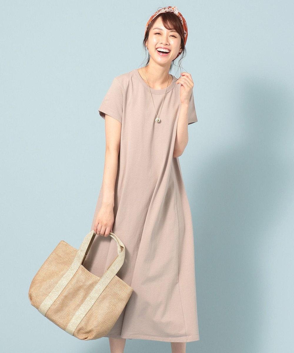 any FAM 【洗える・軽量】エアースパン ワンピース ベージュ系