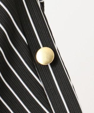 any FAM L 【洗える】リップルボーダー カットソー ブラック系1