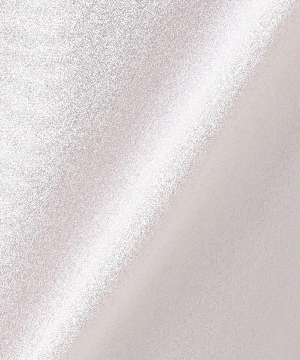 any FAM L 【セレモニー】Backジャージーコンビ ブラウス ライトグレー系