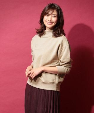 any FAM 【洗える】裏毛ハイネック トップス ベージュ系