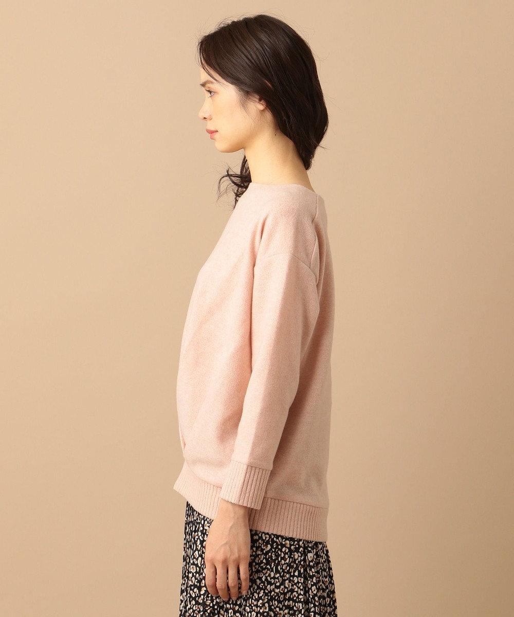 any FAM L 【洗える】MIR起毛ボートネック プルオーバー ピンク系