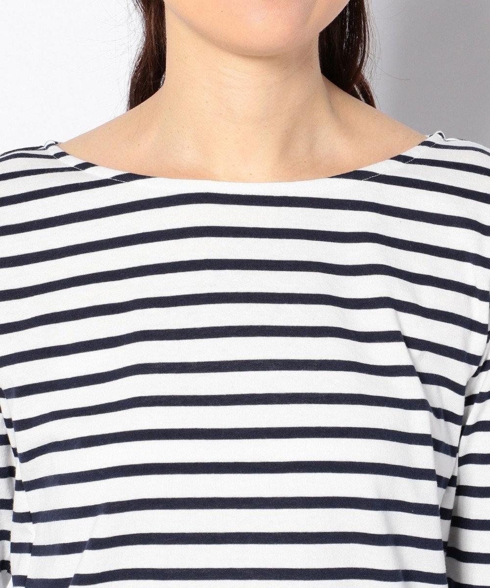 any FAM Basicボーダークルーネック Tシャツ ネイビー系1