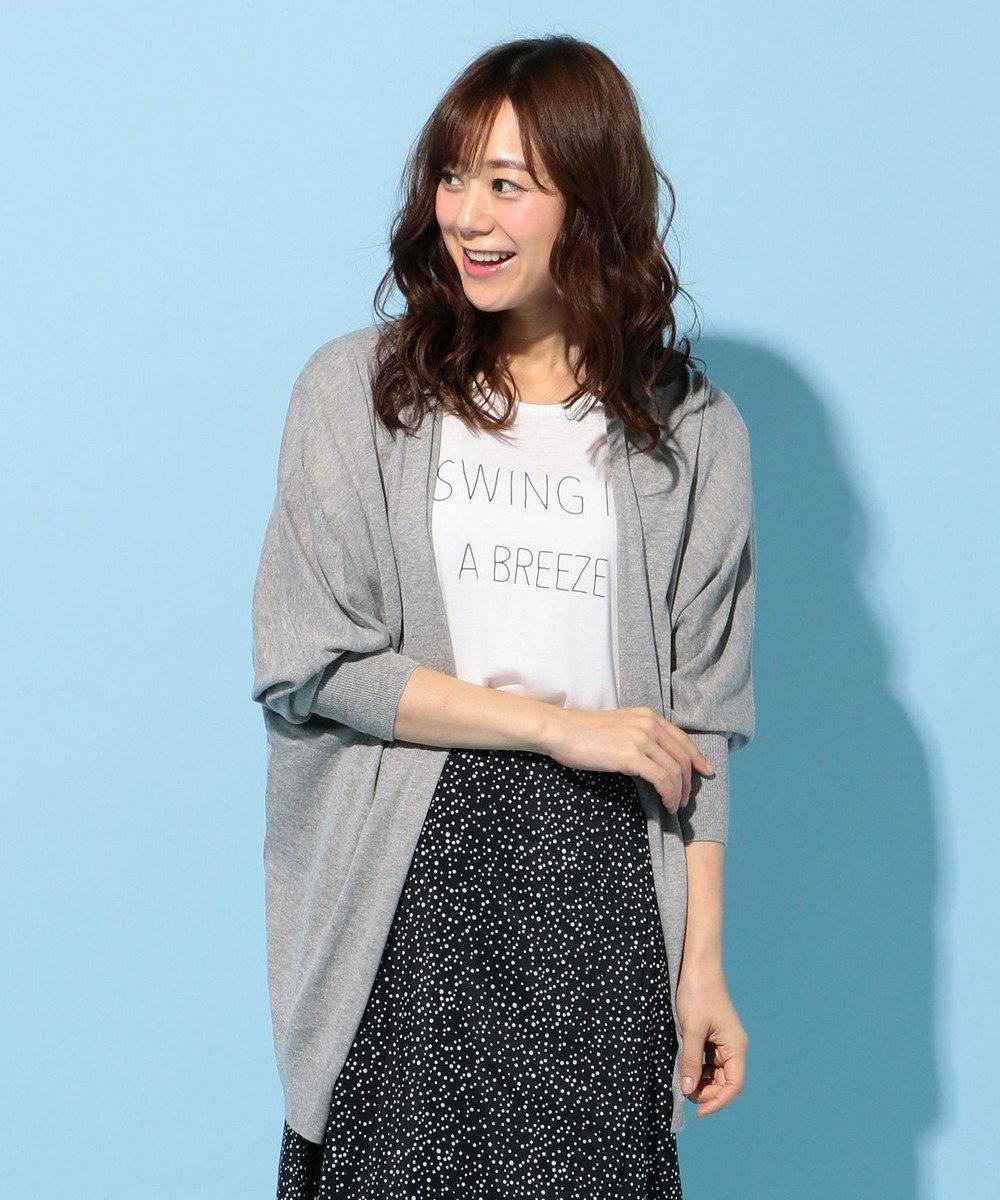 any FAM 【2SET】カーディガン×シャドースリーブ Tシャツ ライトグレー系