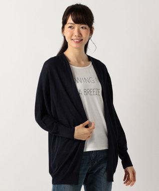 any FAM 【2SET】カーディガン×シャドースリーブ Tシャツ ネイビー系