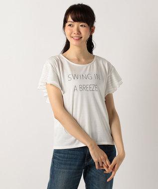 any FAM 【2SET】カーディガン×シャドースリーブ Tシャツ ブラウン系