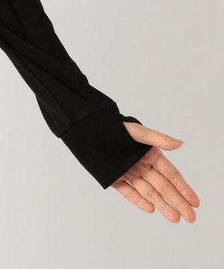 any FAM 【UVケア】フード付き カーディガン ブラック系
