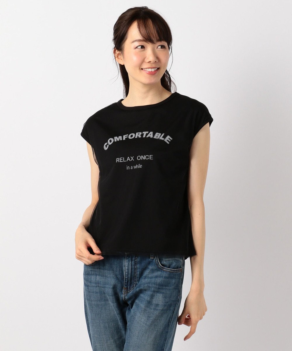 any FAM チュールロゴ Tシャツ ブラック系