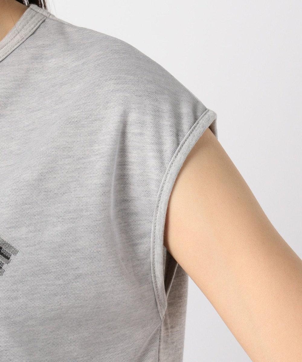 any FAM チュールロゴ Tシャツ ライトグレー系