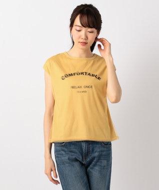 any FAM チュールロゴ Tシャツ イエロー系