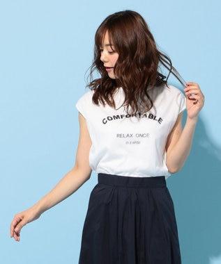 any FAM チュールロゴ Tシャツ ホワイト系
