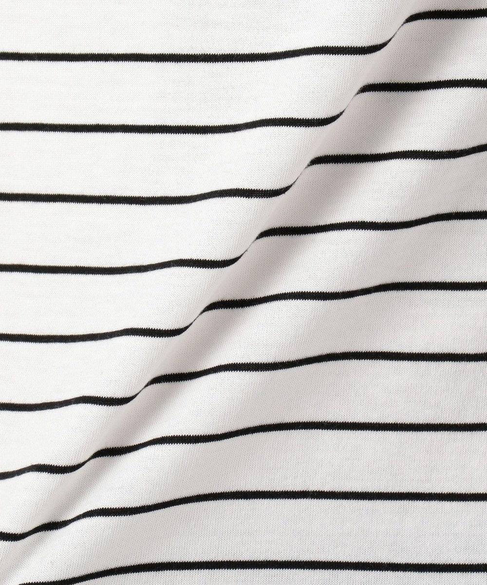 any FAM 【接触冷感】無地/ボーダー ロゴプリント Tシャツ ブラック系1