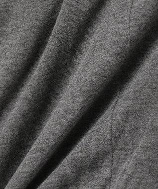 any FAM 【2SET】シャドーチェックTブラウス×カーディガン ツインセット グレー系