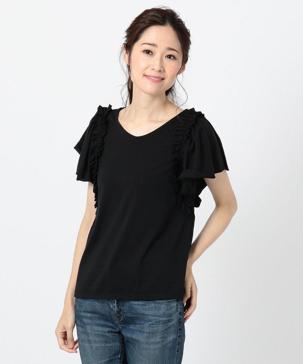any FAM フリルスリーブ Tシャツ ブラック系