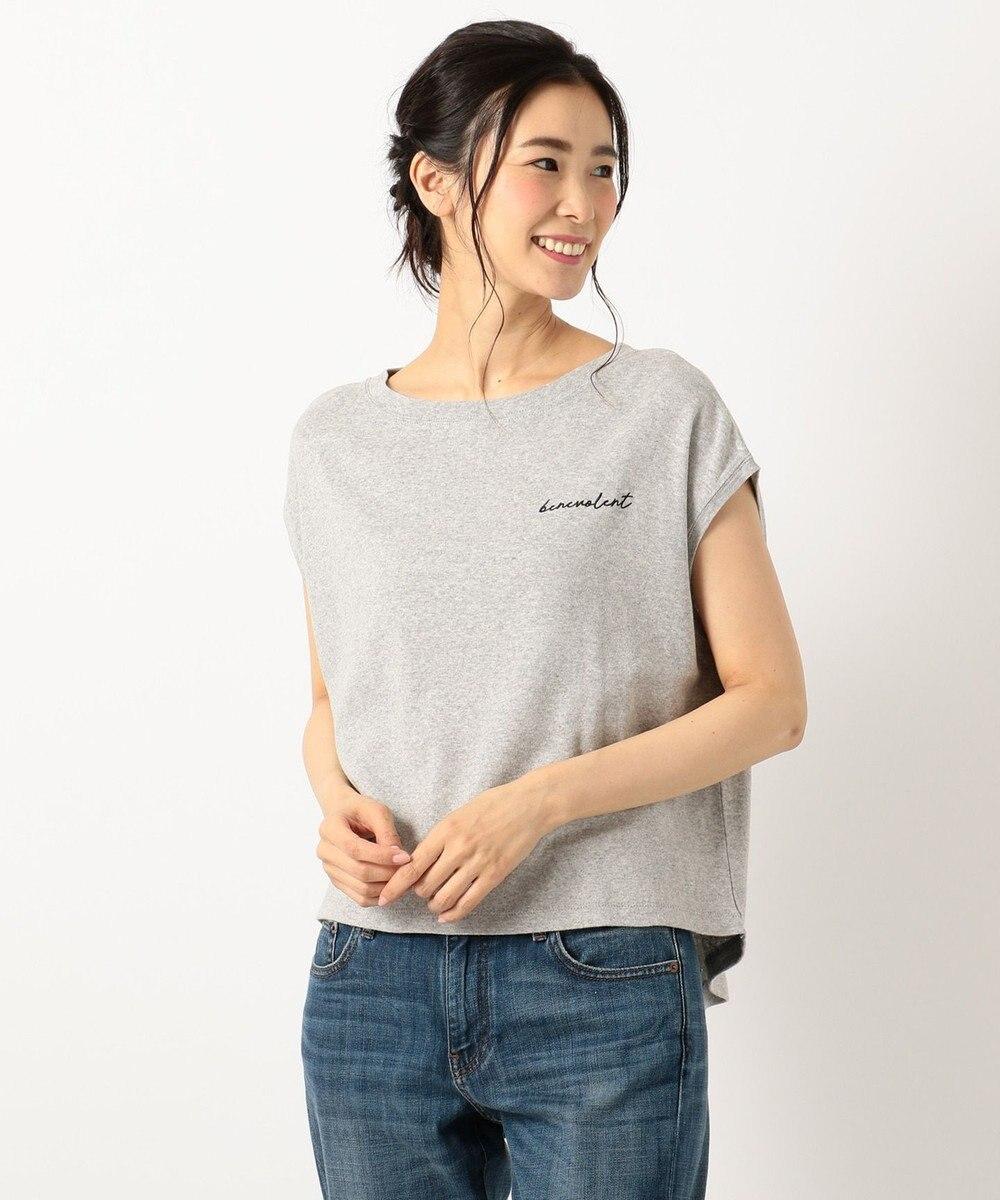any FAM スムースロゴ バックテール Tシャツ ライトグレー系