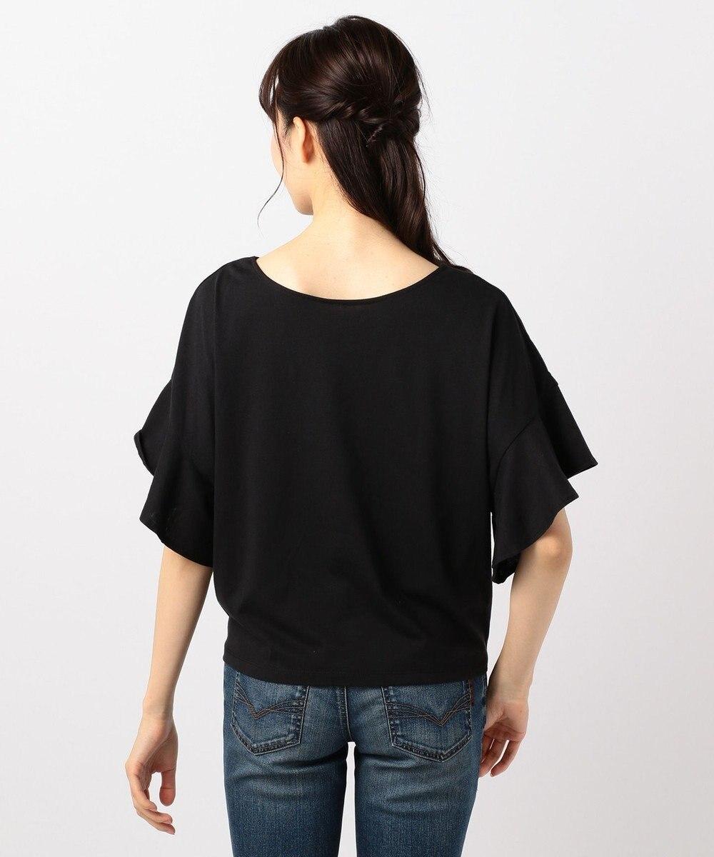 any FAM 【WEB限定】フリルスリーブ Tシャツ ブラック系