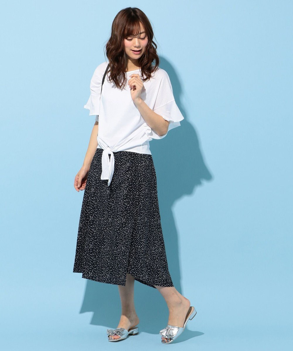 any FAM 【WEB限定】フリルスリーブ Tシャツ ホワイト系