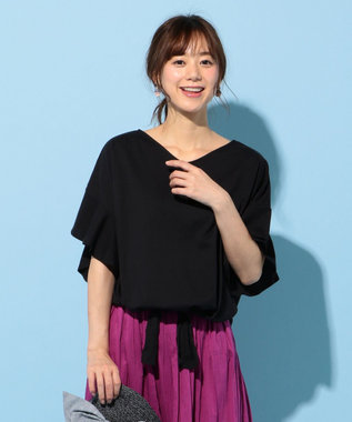 any FAM L ★【2018夏のWEB限定】フリルスリーブ Tシャツ ブラック系