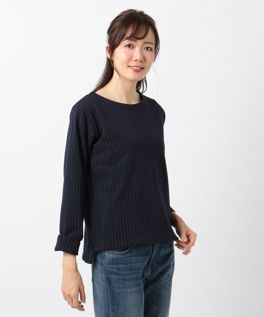 any FAM 【SECRET WARM】裏シャギーストライプ トップス ネイビー系1
