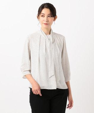J.PRESS LADIES L 【洗える】スクエアプリントボウタイ カットソー アイボリー系5