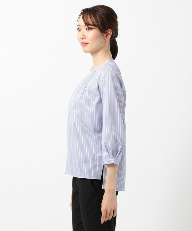 J.PRESS LADIES L 【洗える】トリコットストライプ カットソー