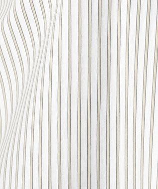 J.PRESS LADIES 【イージーケア】ストライプジャージーシャツライク カットソー ホワイト系1