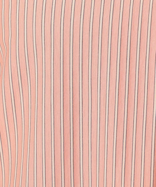 J.PRESS LADIES 【イージーケア】ストライプジャージーシャツライク カットソー ライトオレンジ系1