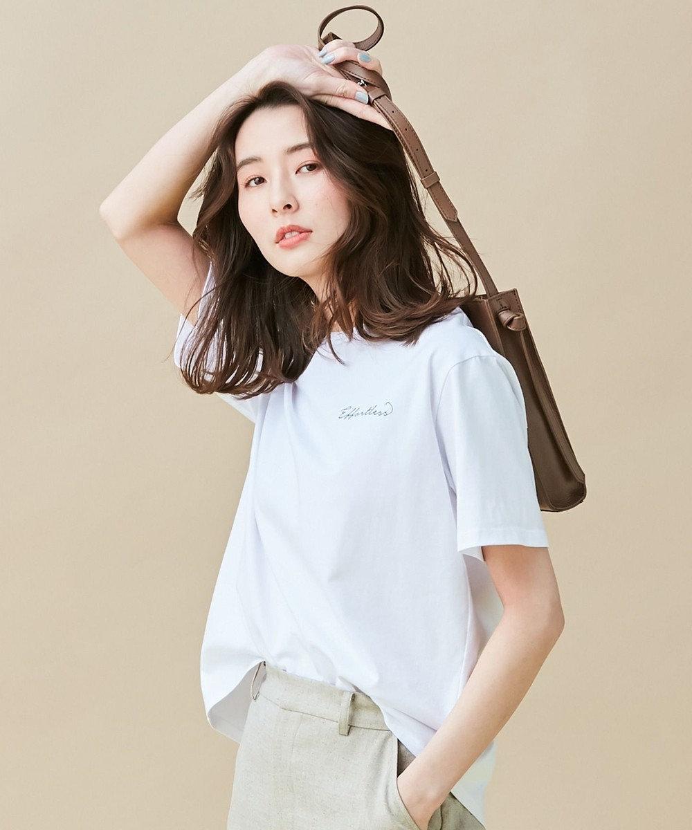 J.PRESS LADIES MINI LOGO TEE effortless Tシャツ ホワイト系