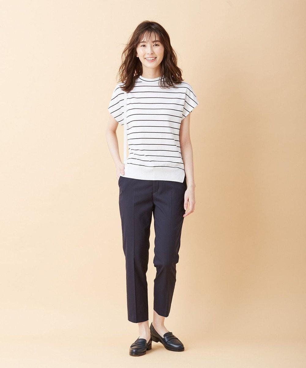 J.PRESS LADIES 【洗える】シルクリネンセーターマシーン カットソー ホワイト系1