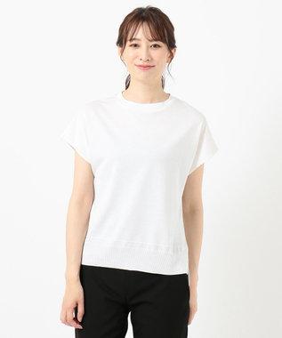 J.PRESS LADIES 【洗える】シルクリネンセーターマシーン カットソー ホワイト系