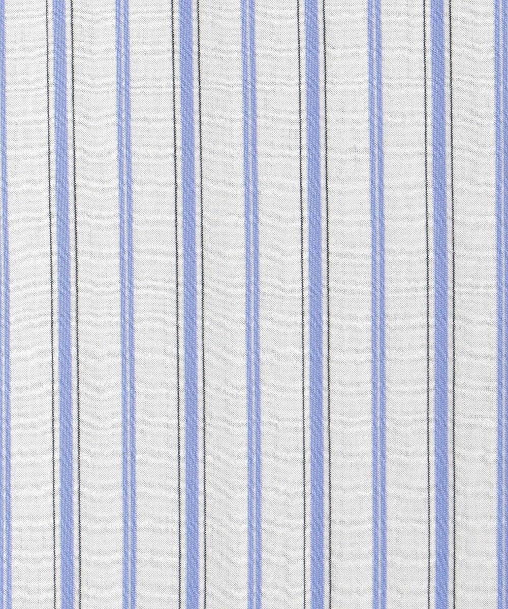 J.PRESS LADIES S 【洗える】スビンギザストライプジャージー 5分袖カットソー ホワイト系1