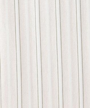 J.PRESS LADIES S 【洗える】スビンギザストライプジャージー 5分袖カットソー ベージュ系1
