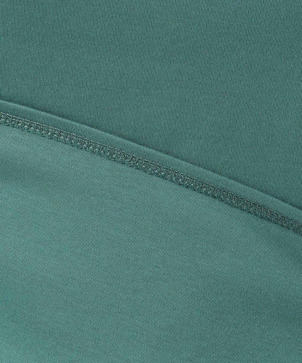 J.PRESS LADIES 【UVケア・消臭効果・接触冷感】コンパクトコットンスムース 半袖Tシャツ ダークグリーン系