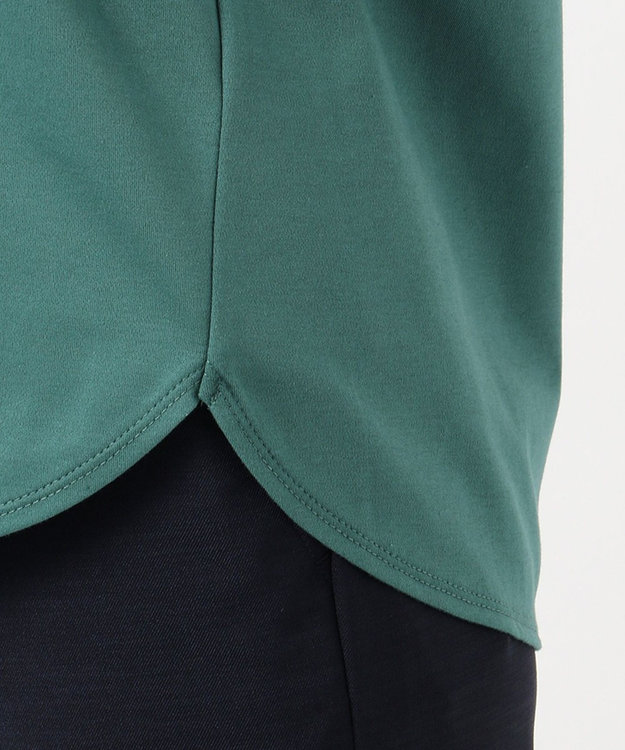 J.PRESS LADIES 【UVケア・消臭効果・接触冷感】コンパクトコットンスムース 半袖Tシャツ