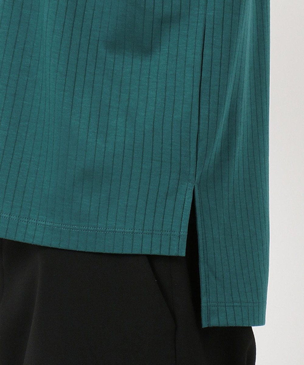 J.PRESS LADIES 【日本製】コットンリブフレンチ Tシャツ グリーン系