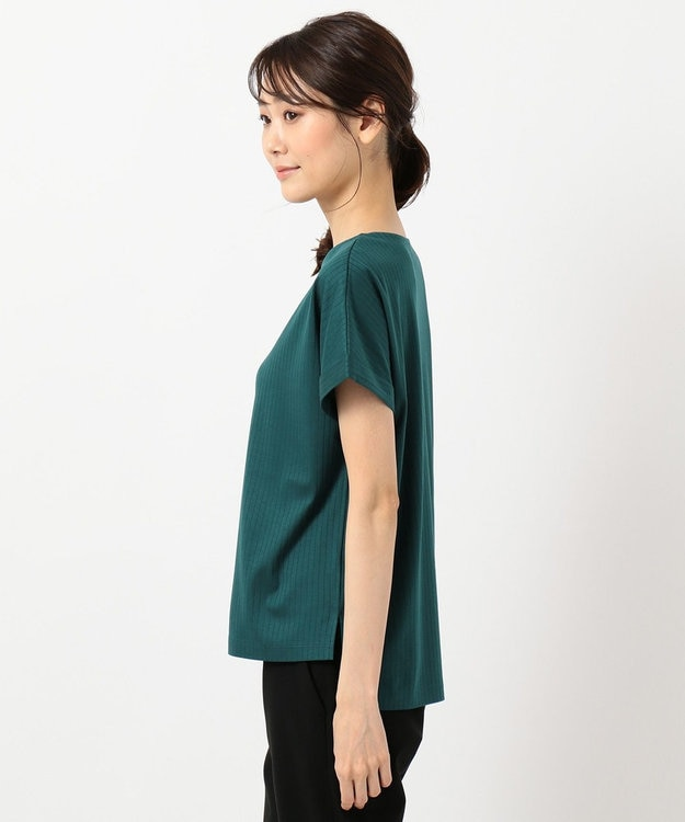 J.PRESS LADIES 【日本製】コットンリブフレンチ Tシャツ