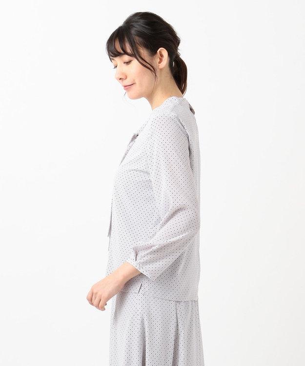 J.PRESS LADIES L ドット幾何プリント カットソー