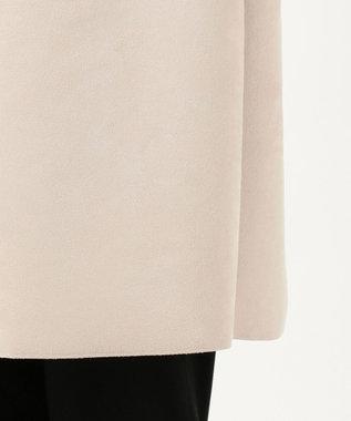 J.PRESS LADIES 【ストレッチ性抜群】ライトスウェードダンボール ノーカラーコート ベージュ系