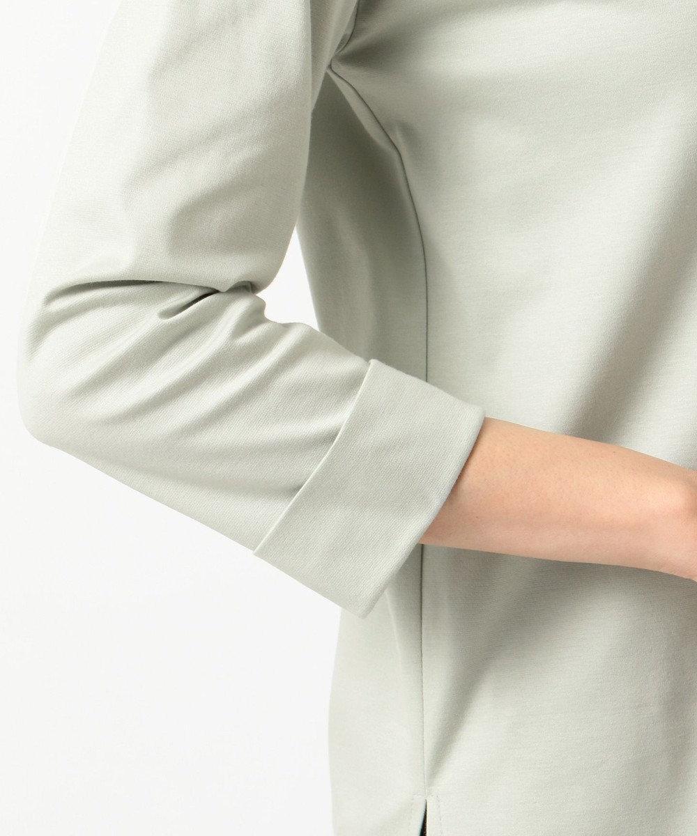 J.PRESS LADIES スーピマポンチ無地ロゴ Tシャツ スモーキーグリーン系