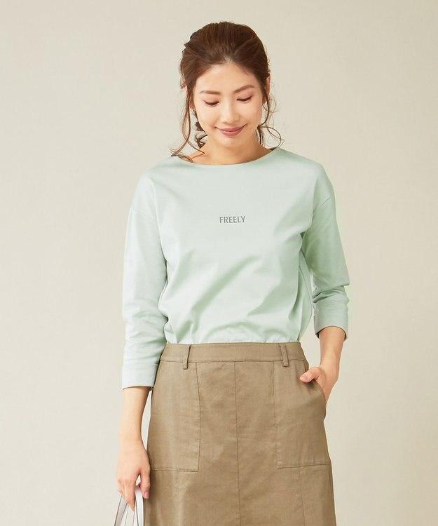 J.PRESS LADIES スーピマポンチ無地ロゴ Tシャツ