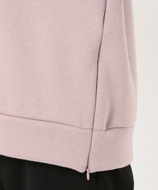 J.PRESS LADIES 【WEB限定】洗えるウルトラブラッシュ パーカープルオーバー ピンク系