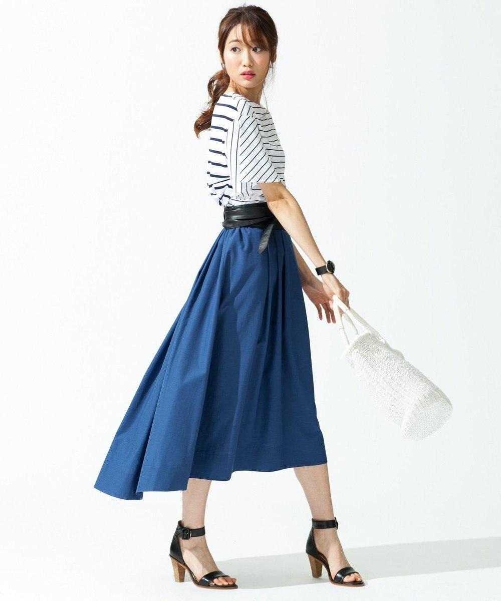 J.PRESS LADIES L 【洗える!】72/2サイロプレミアムボーダー カットソー ホワイト系1